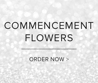 Picture with a sparkling background. Commencement Flowers. Click to order now.
