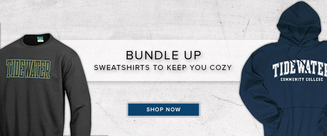 Picture of sweatshirts with school logo. Bundle up. Sweatshirts to keep you cozy. Click to shop now.
