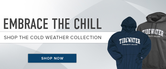 Picture of cold weather gear. Embrace the chill. Shop the cold weather collection. Click to shop now.